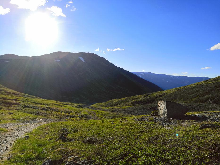 Дорога в лагерь из Хибин