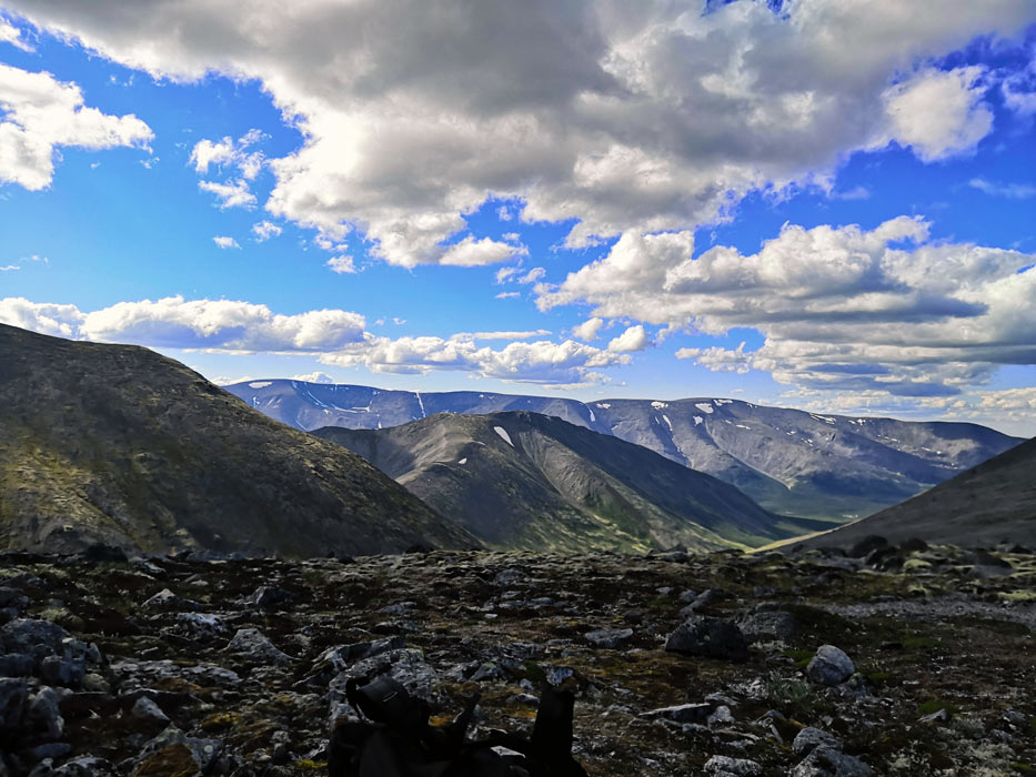 Вид на вершине Хибин