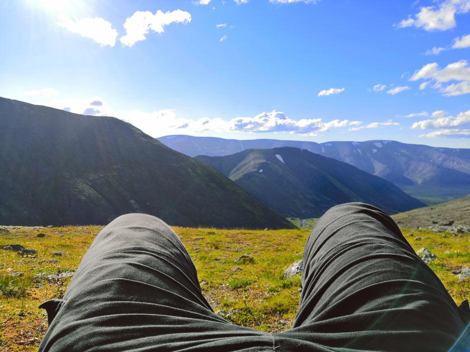 На вершине 1000 м в Хибинах