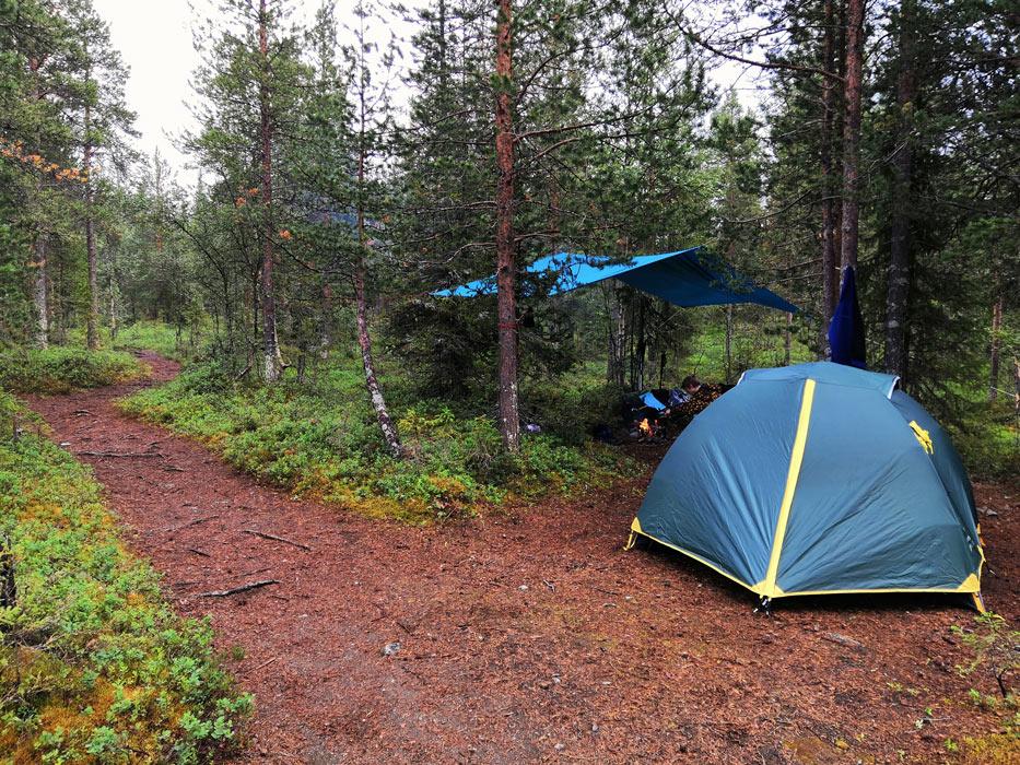 Наш лагерь в Хибинах