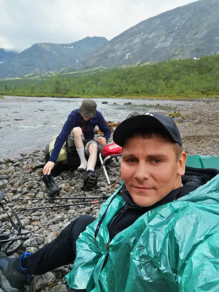 После перехода горной реки в Хибинах