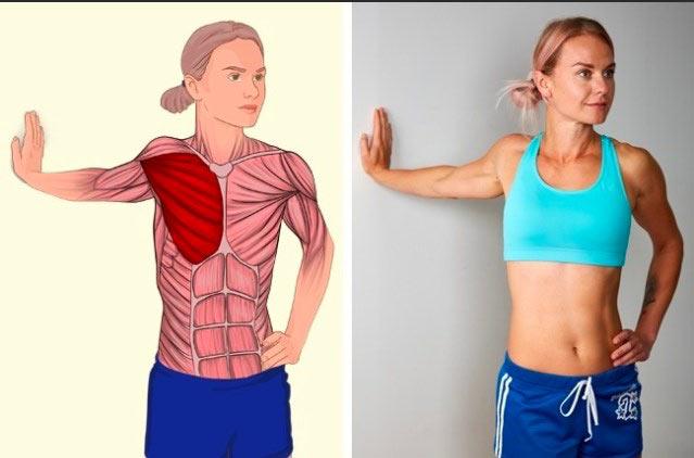 Растяжка груди: разворот
