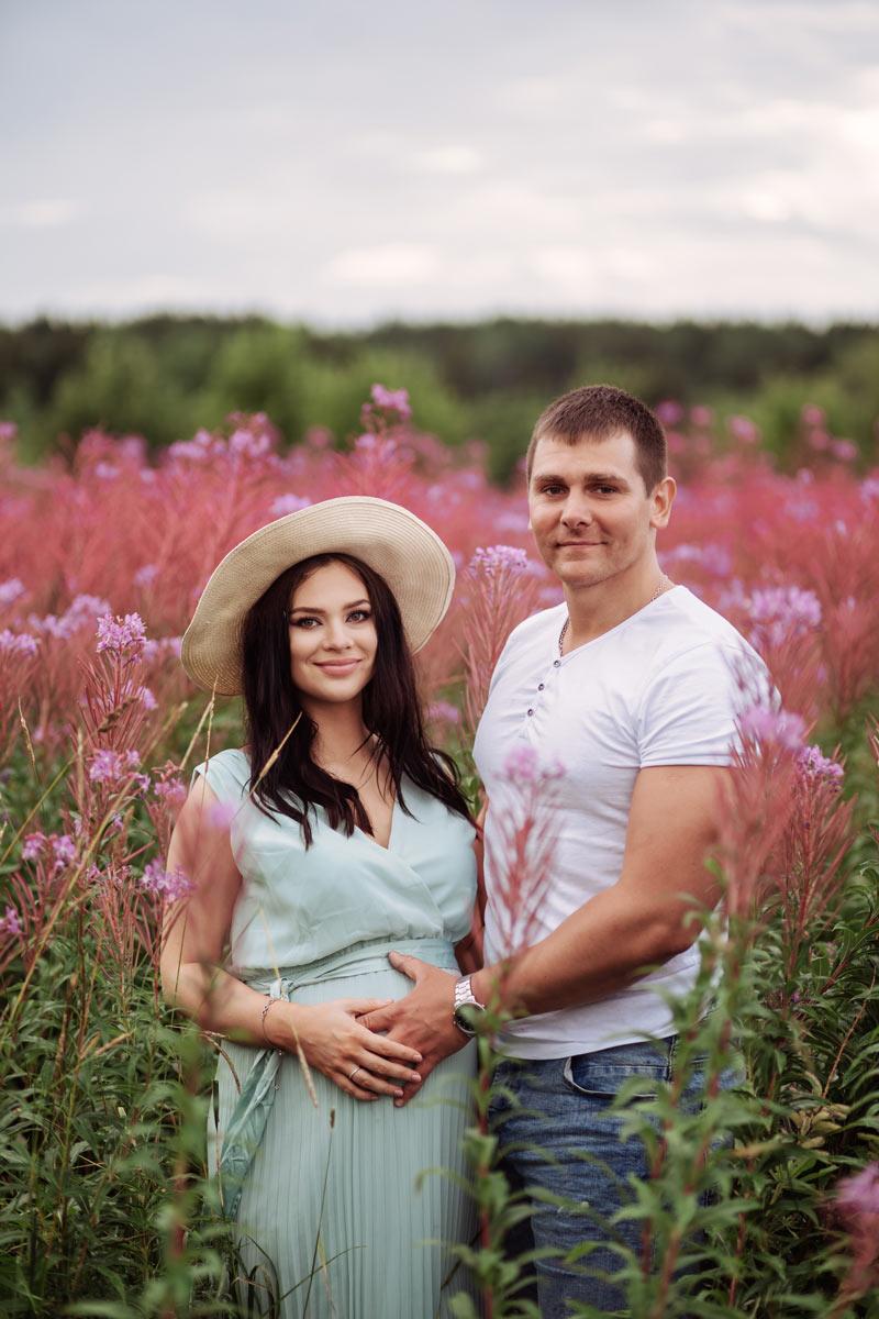 Я и беременная Ксюшка