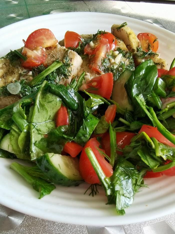Диета для похудения: рыба и овощи